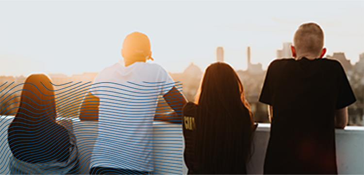 friends on a rooftop