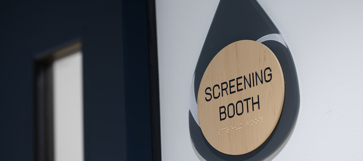 Trusting Heart Blood Center Screen Booth